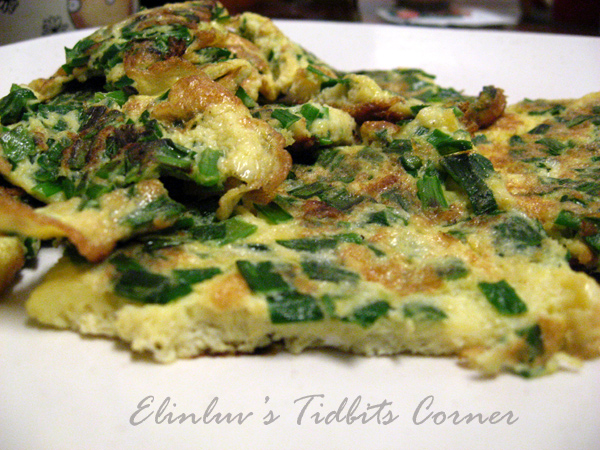 Elinluv's Tidbits Corner: Chives Omelette