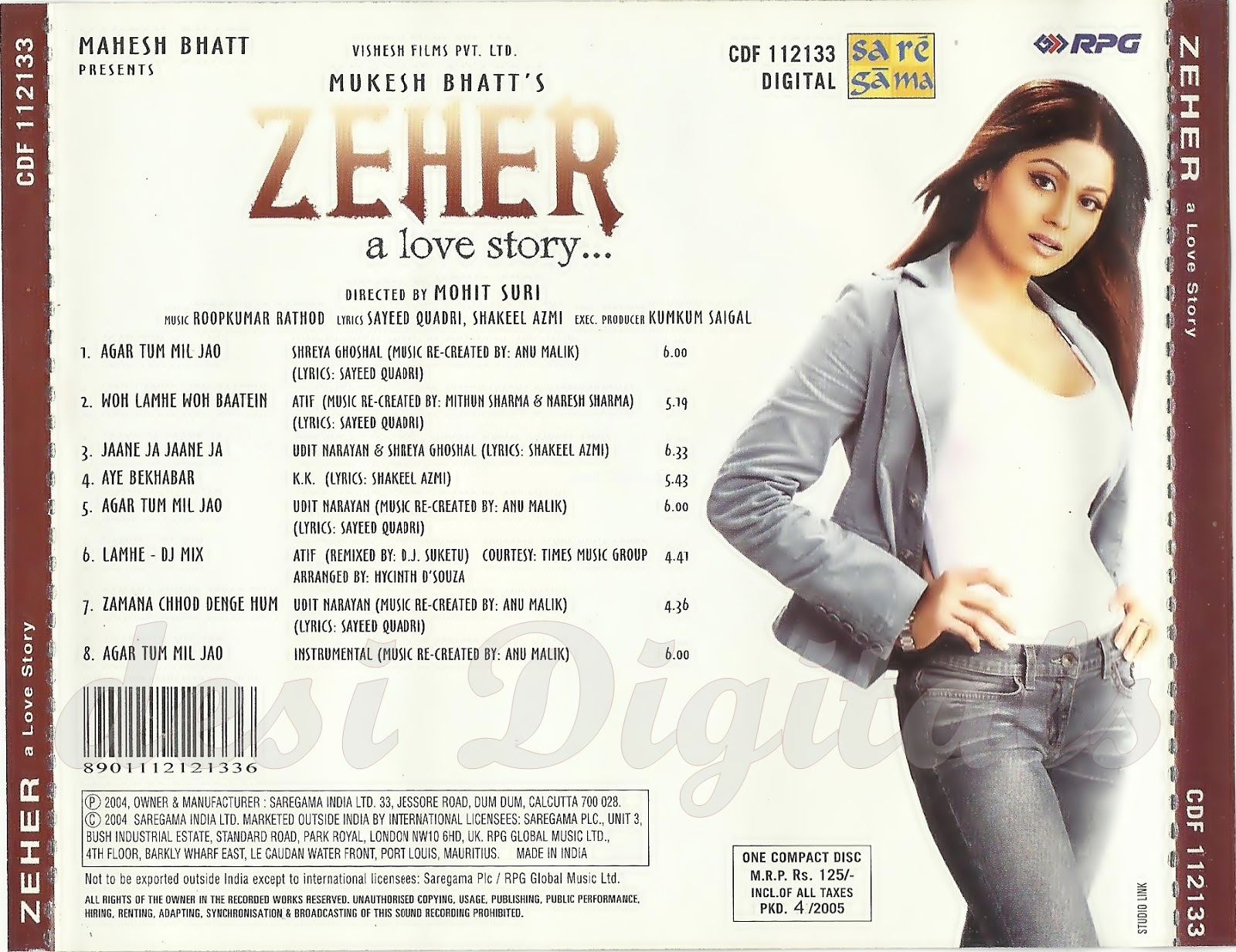 Zeher  2004-MP3-VBR-320Kbps  -  dD Zeher Soundtrack