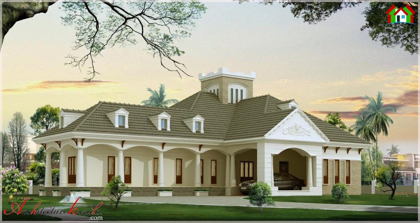 Traditional style kerala villa in 3000 square feet for 3000 sq ft house plans kerala style