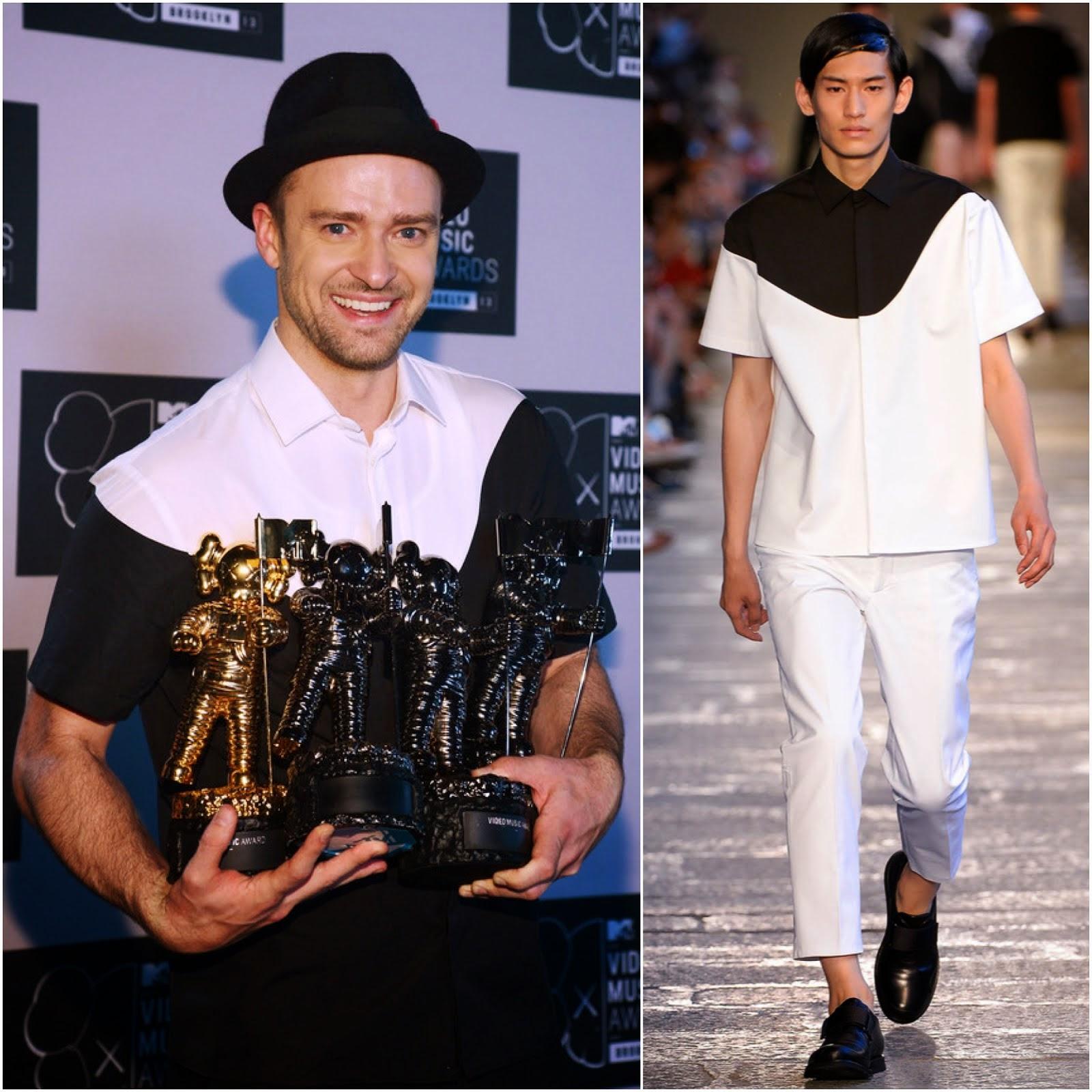 00O00 Menswear Blog: Justin Timberlake in Neil Barrett - 2013 MTV Video Music Awards