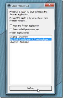 Lazar Freezer :Kunci Aplikasi Untuk Membatasi Pemakaian CPU
