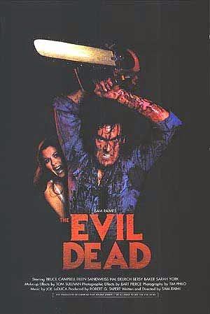 Evil Dead, una gran pelicula ochentera, llena de sangre, terror y espanto en torno a un libro maldito.