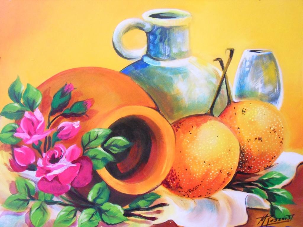 Bodegones fáciles de pintar | Bodegones y Paisajes Cuadros al Óleo
