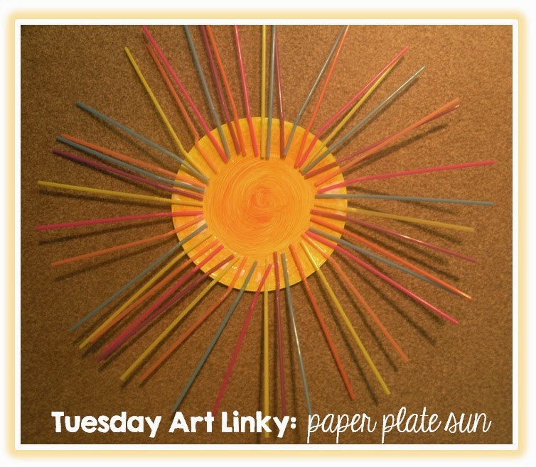 Paper Plate Sun: Tuesday Art Linky
