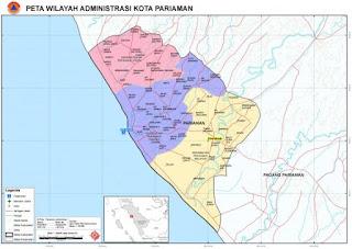 Gambar Peta Wilayah Kota Pariaman
