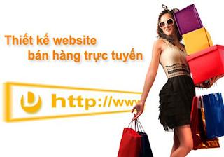 thiet ke Website bán hàng trực tuyến