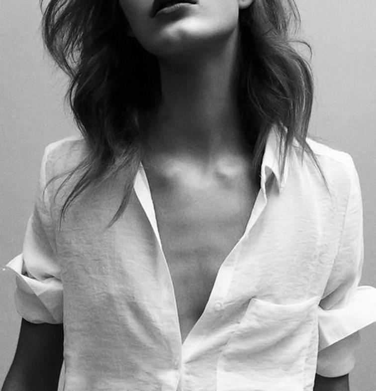 Open linen crisp shirt, tomboy