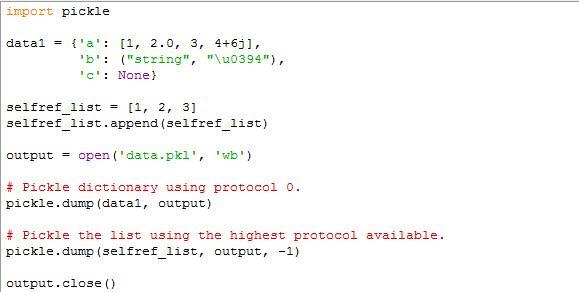 程式扎記: [Python Std Library] Data Persistence : pickle — Python ...