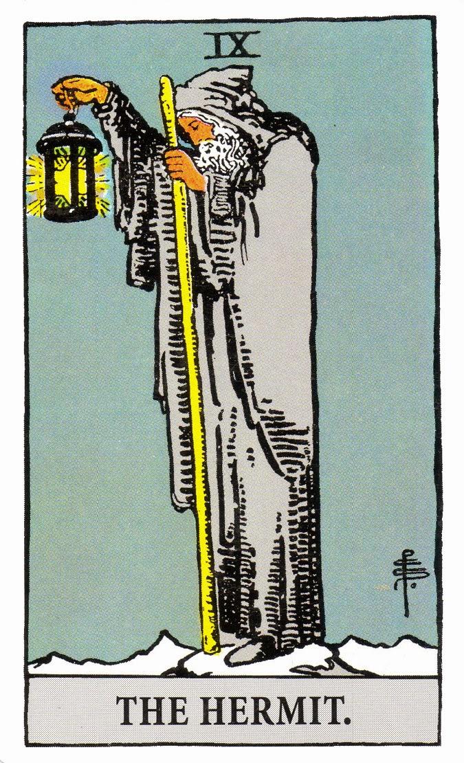 Arcano IX, O Eremita - Como ler tarot