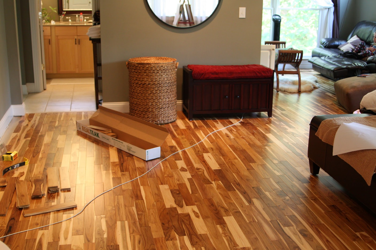 Master bedroom hardwood flooring is nearly finished for Bedroom flooring
