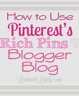 Want to implement Pinterest's new Rich Pins Feature on your blog, but have no idea where to start? This fairly easy tutorial shows you how to put it on Blogger blogs! http://www.lambertslately.com/2013/10/how-to-use-pinterests-rich-pins-on.html