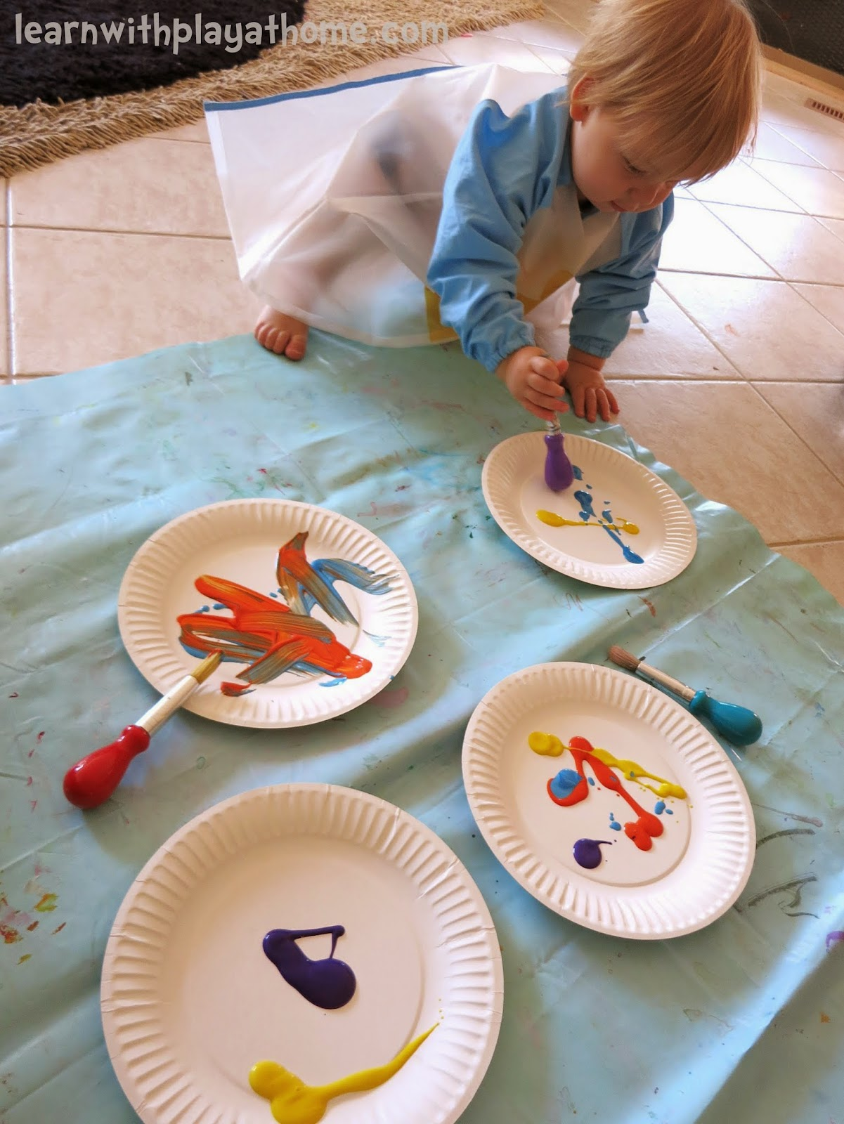 Jul 29 2013 & Learn with Play at Home: Baby and Toddler Play: Paper Plate Painting