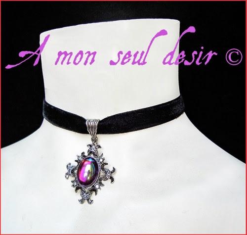 collier gothique victorien ras du cou ras de cou velours noir croix argenté gothic gothik goth black velvet choker necklace silver cross victorian jewel