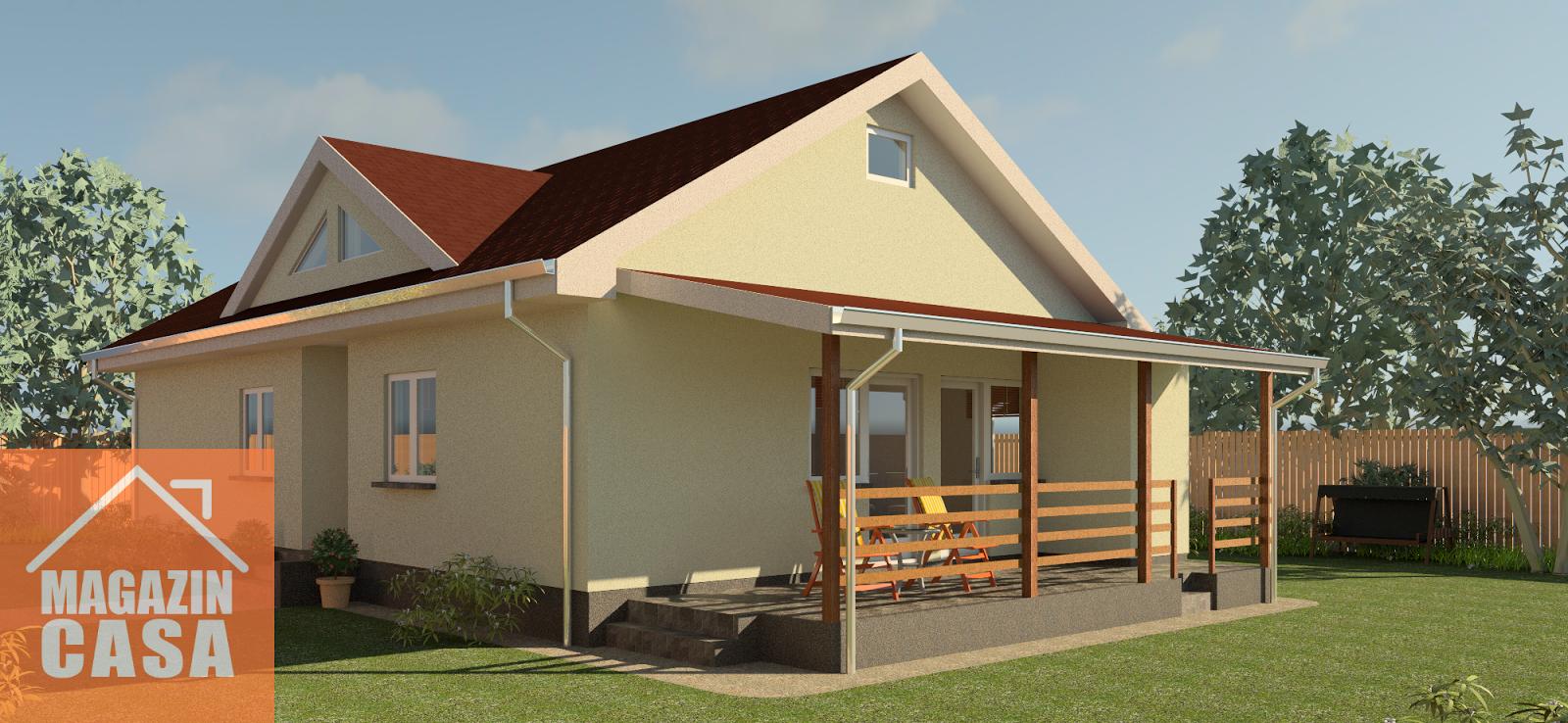 Arhiconstruct proiect casa parter casa a20 magazin casa 3 for Proiecte case parter