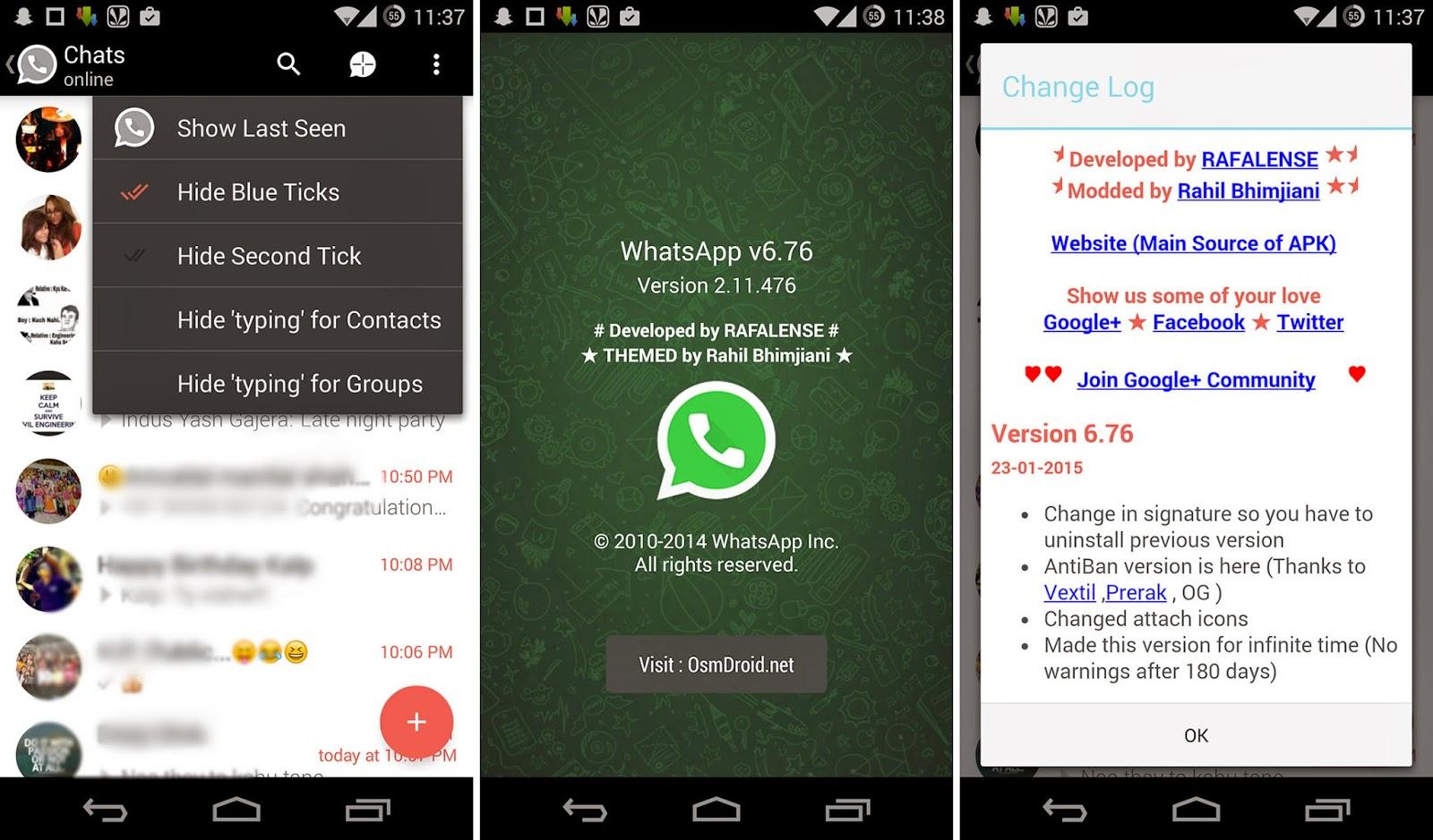 Whatsapp Plus 6.76 AntiBan No Ban Lollipop Fix Material Design Screenshot Full