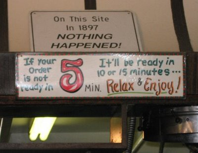 funny restaurant sign