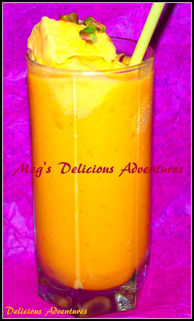 Mango Mastani (Mango Milkshake with Mango Ice cream)