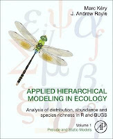 http://store.elsevier.com/Applied-Hierarchical-Modeling-in-Ecology-Analysis-of-distribution-abundance-and-species-richness-in-R-and-BUGS/Marc-Kery/isbn-9780128014868/