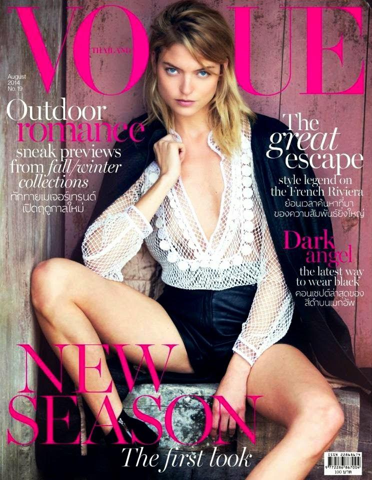 Martha Hunt by David Bellemere for Vogue Magazine, Thailand ,August 2014