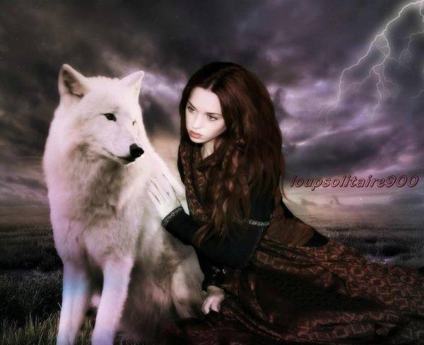 Loup et Femme