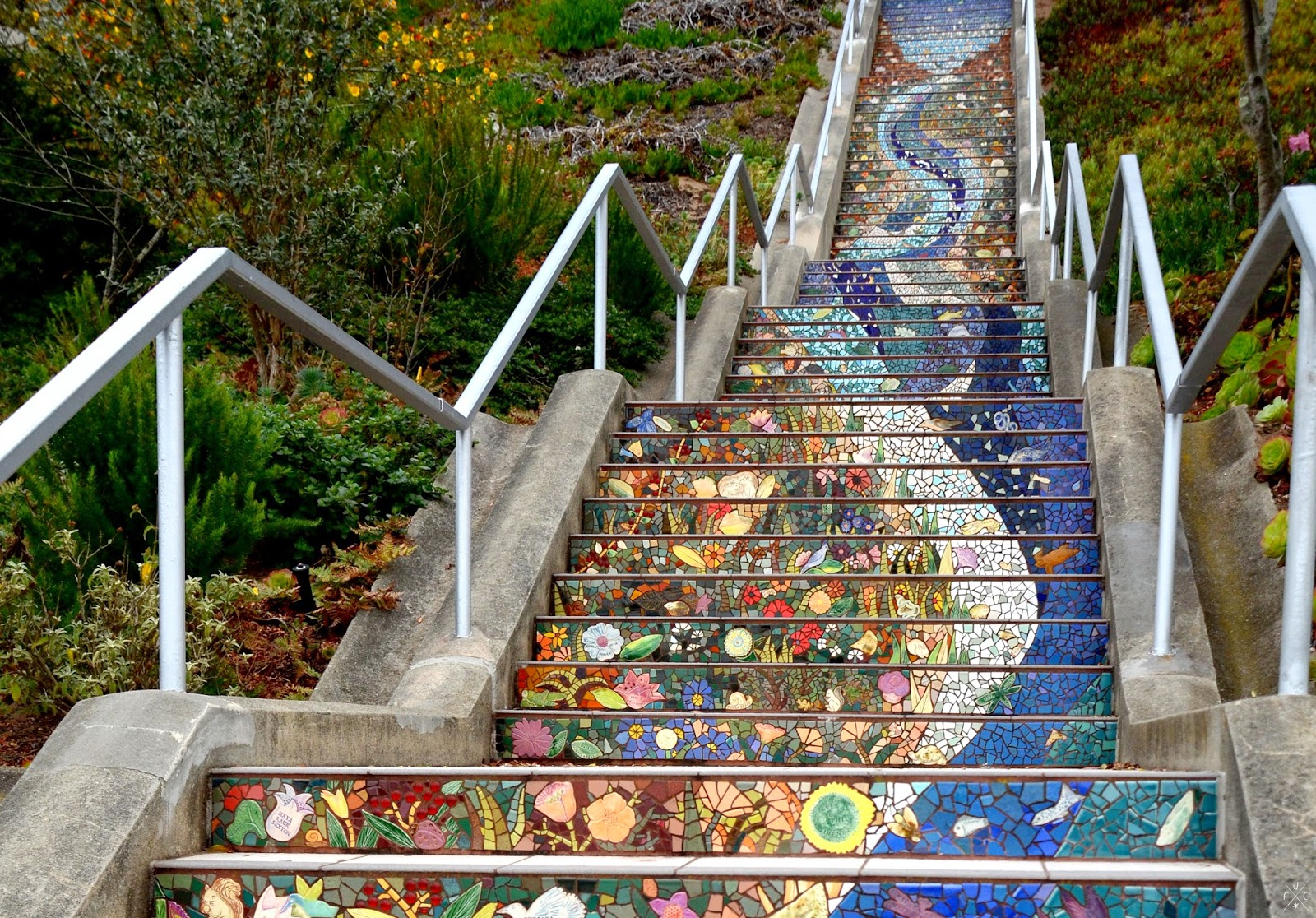 Moraga Steps - Vues sur San Francisco, Californie, USA