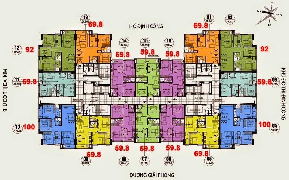 Mặt Bằng Chung Cư CT36 Dream Home