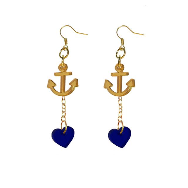 Gold Anchor Earrings4