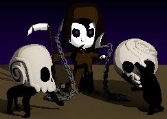 skull chain necromancer scythe