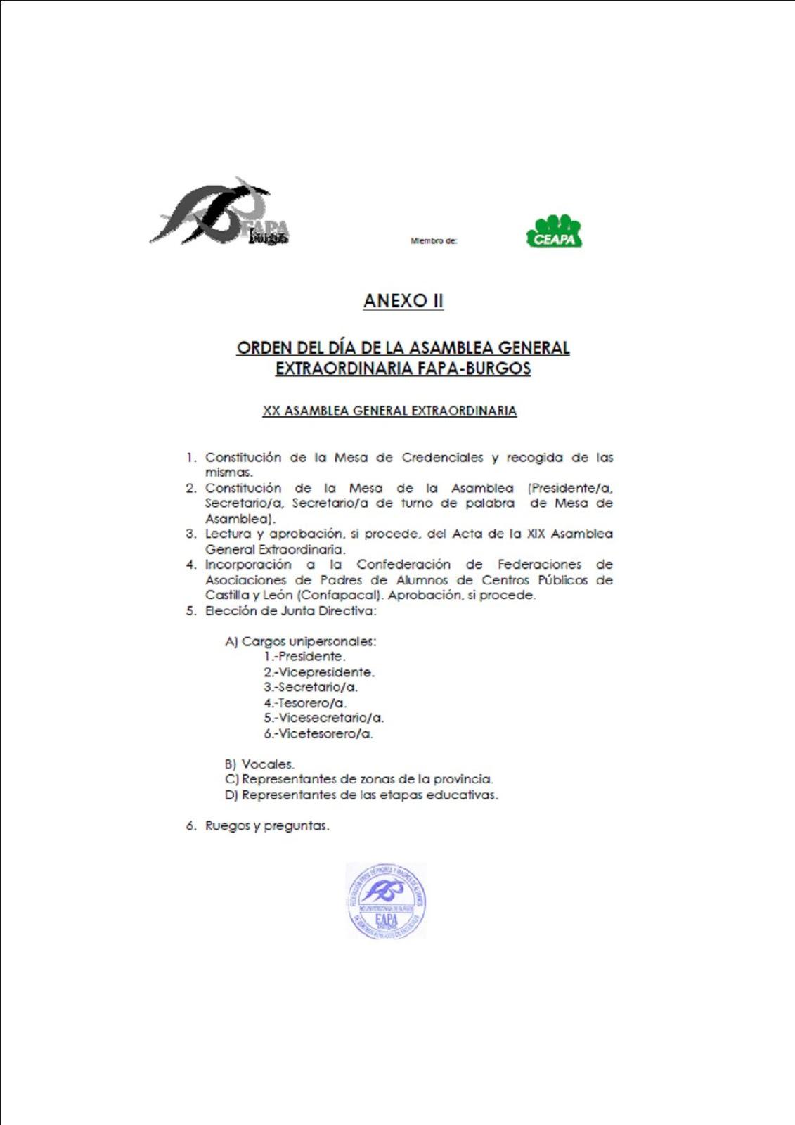FAPA Burgos: ASAMBLEA DE FAPA-BURGOS y CHARLA-DEBATE SOBRE ...