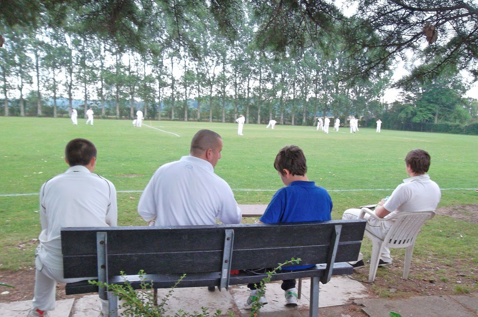 Cricket being played at Brigg Recreation Ground - pictured by Nigel Fisher's Brigg Blog