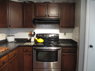 restaining kitchen cabinets after