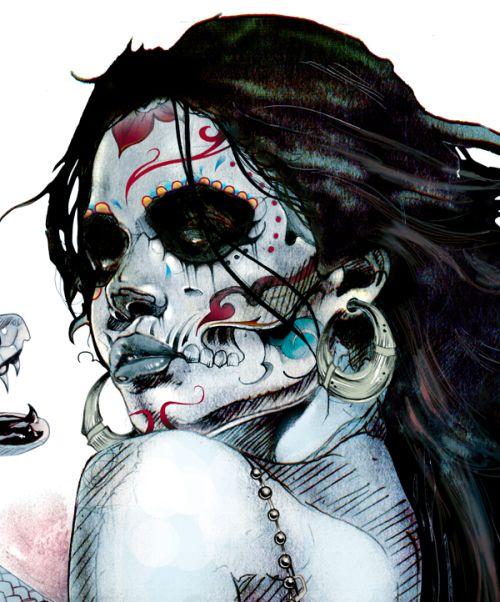 Kent Floris ilustrações incríveis arte Princesa do vudu