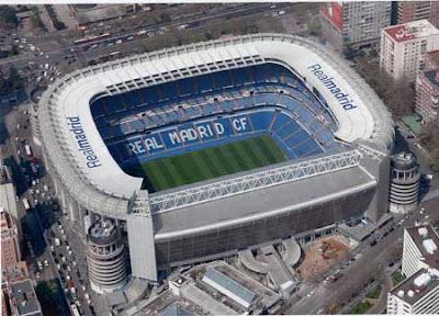 estadio Santiago Bernabéu por fuera