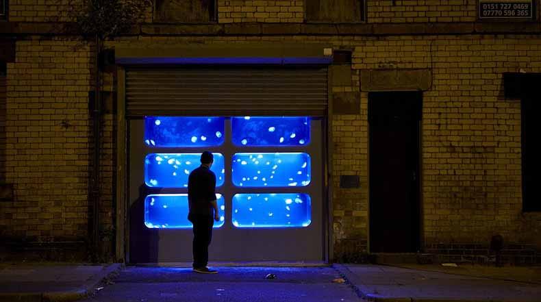 Un tanque de las medusas Instalado en un edificio abandonado en Liverpool