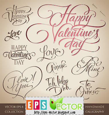 valentine lettering