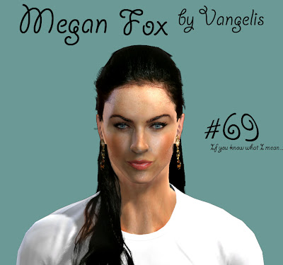 Megan Fox Face by Vangelis