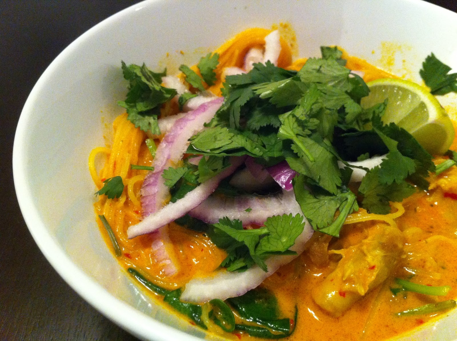 Culinary Pyrotechnics: Cook the Cover ~ Chicken Khao Soi