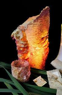 Papel ecológico y artesanías en Granja Hogar Los Tulipanes