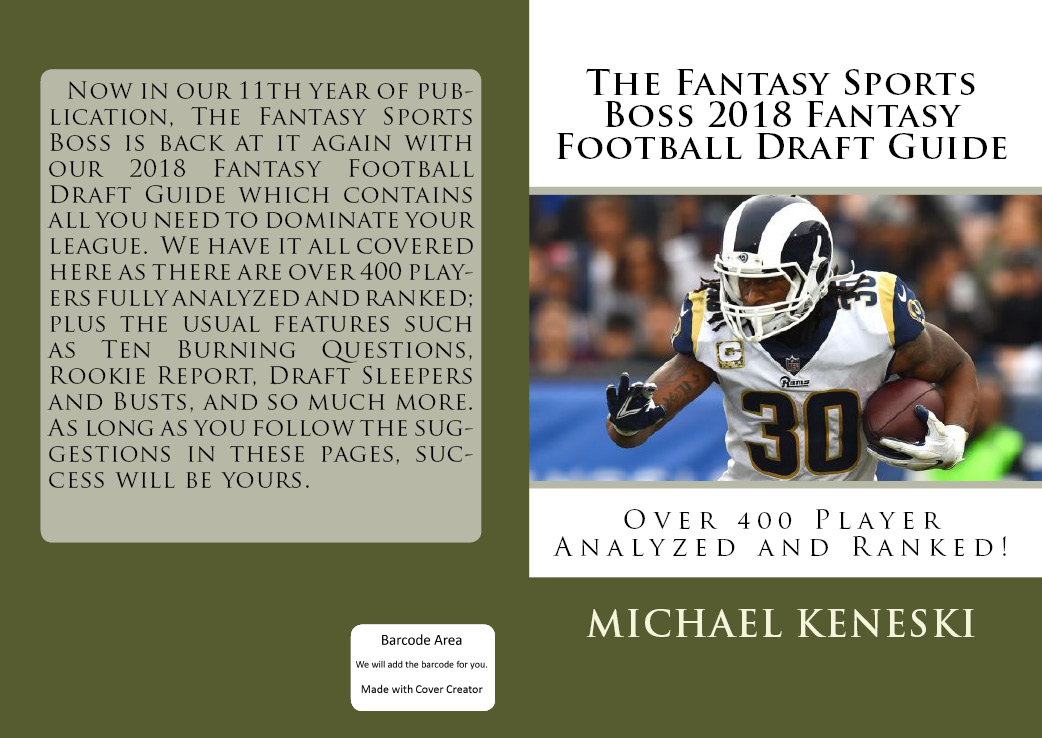 PRE-ORDER THE FANTASY SPORTS BOSS 2018 FANTASY FOOTBALL DRAFT GUIDE BELOW FOR JUST $19.99