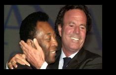 Pelé e Julio Iglesias