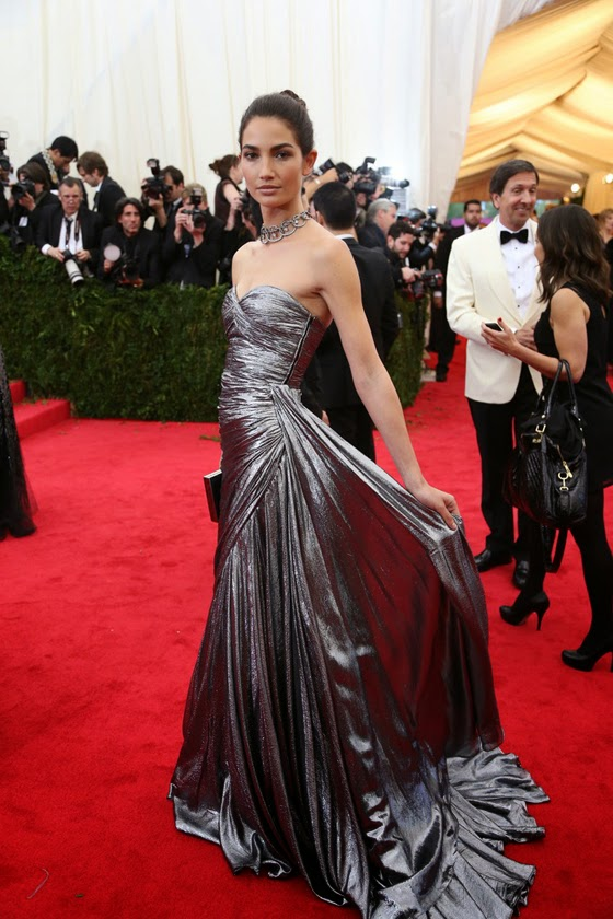 Lily Aldridge Met Gala Ball 2014