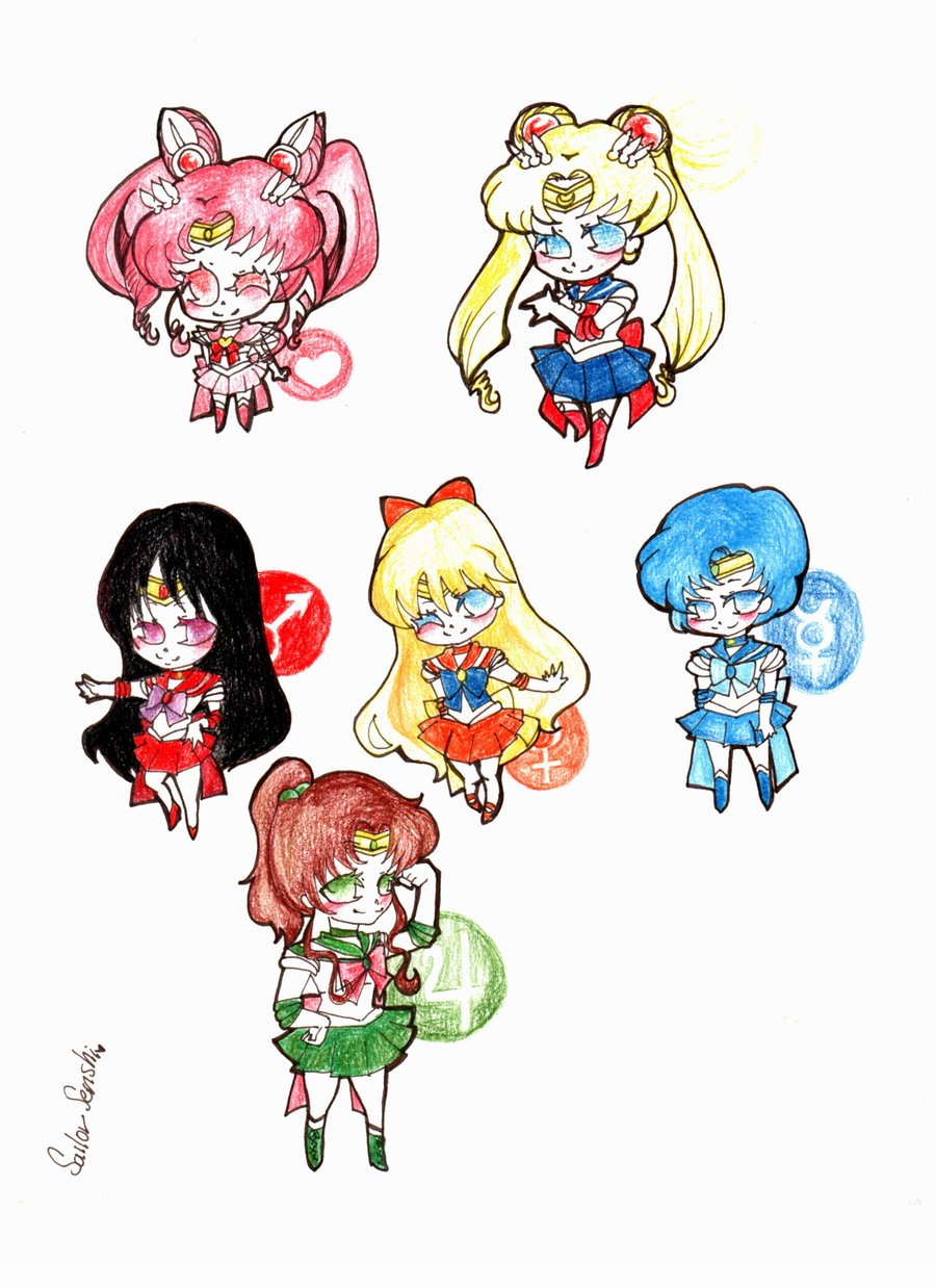 Sailor moon senshi1 Chibi por Clamp101