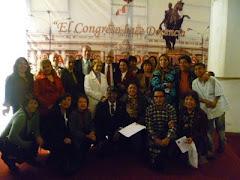 Con amigos poetas en el Congreso