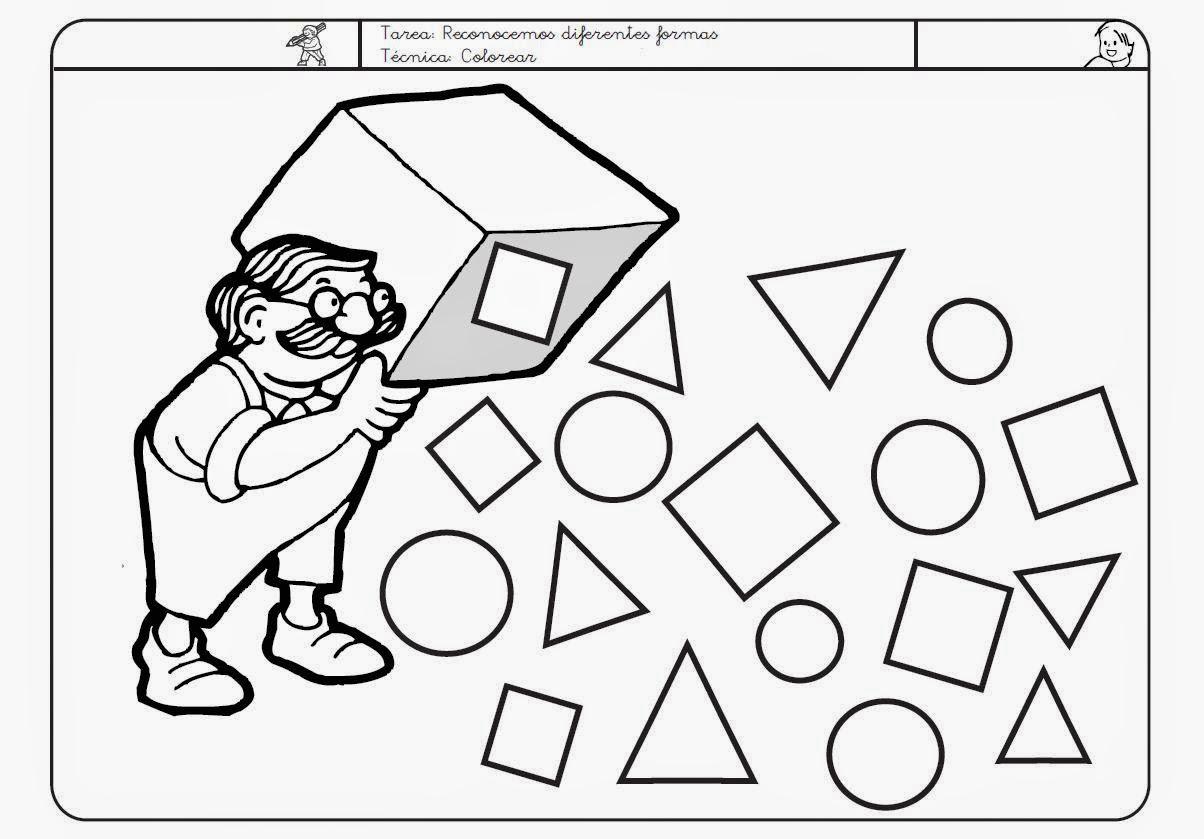 Dibujos para colorear formas geometricas - Maneras de pintar ...