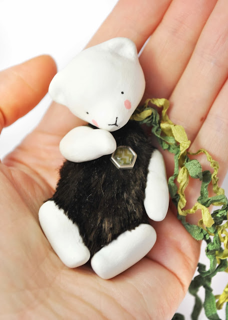 мишка тедди из полимерной глины