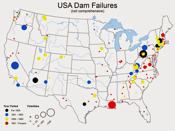 Our National Calamity The Great Easter Flood An - Map of us dams deficient