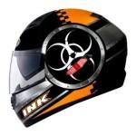 Helm INK CL1 Hazard Hitam Orange