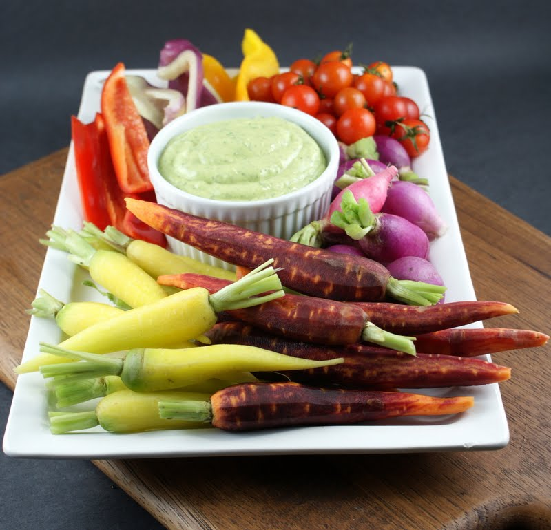 Authentic Suburban Gourmet: Crudités with Green Goddess Dip