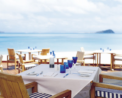 Waterfront dining at Azure Restaurant