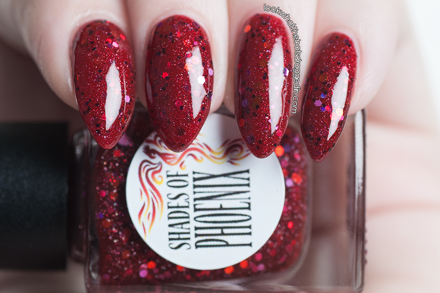 Shades of Phoenix Fire nail polish swatch